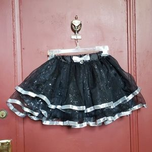 Other - Toddler Black and Silver Tiered and Tulle Skirt